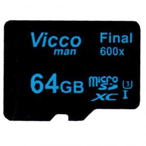 کارت حافظه microSDXC ویکومن مدل Final 600x کلاس 10 استاندارد UHS-I U3 سرعت90MBps ظرفیت 64 گیگابایت